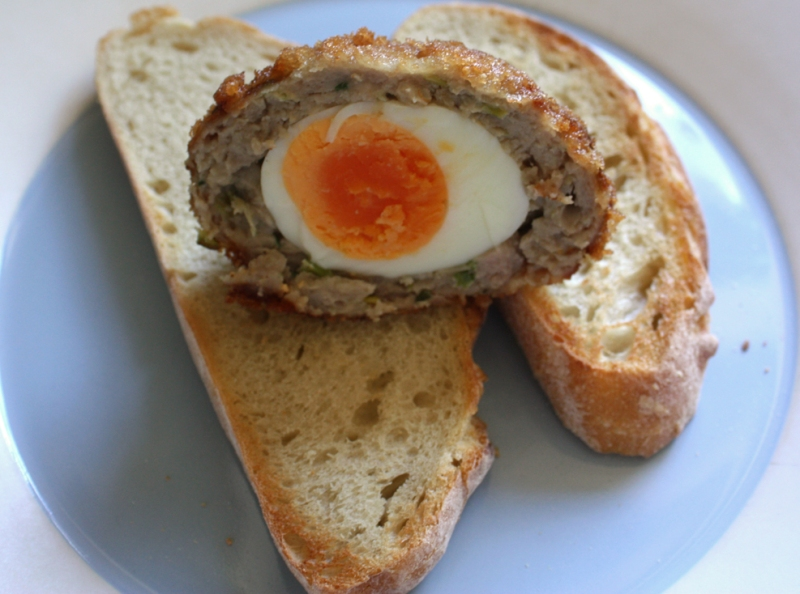 Scotch egg on toast