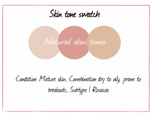Caro's skin tone swatch