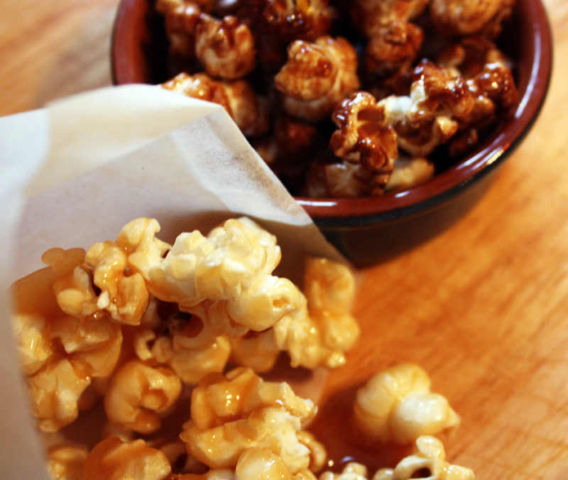 Honey caramel popcorn, balsamic vinegar and sea salt popcorn