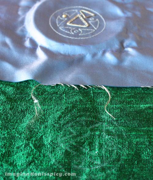 Initial choice of silk fabrics